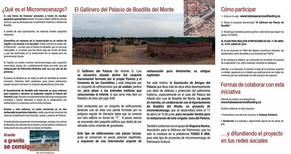 Micromecenazgo para el Gallinero del Palacio de Boadilla del Monte