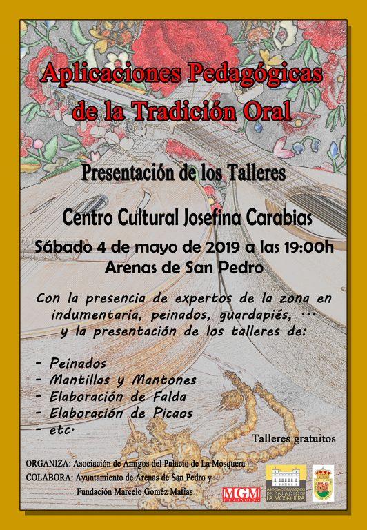 Presentación Talleres Folclore - Arenas de San Pedro - Amigos del Palacio de La Mosquera