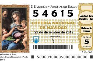 2019-12-22 Lotería Navidad Asociación de Amigos del Palacio de La Mosquera de Arenas de San Pedro