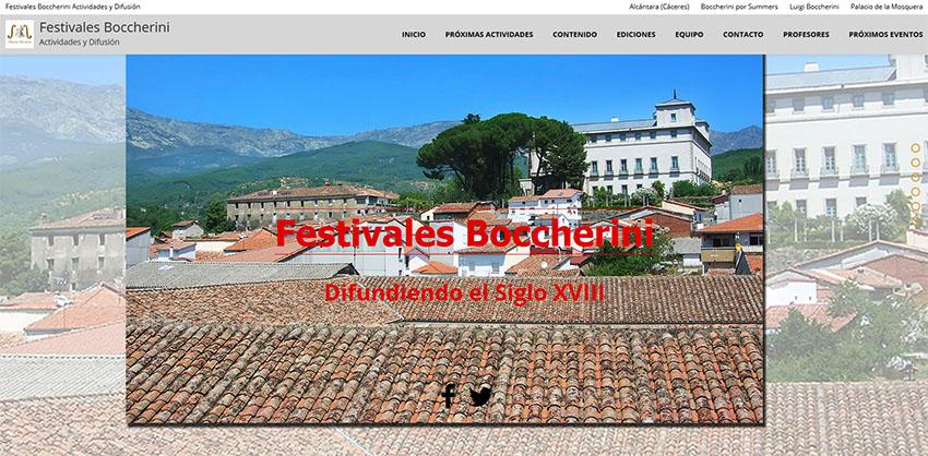 Portada web Festivales Boccherini