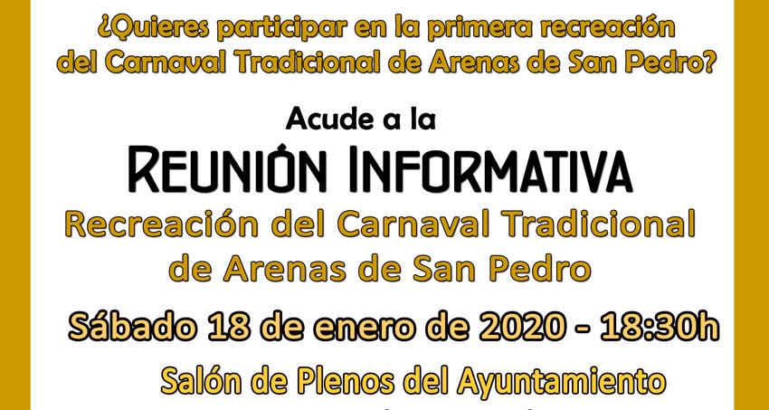 Reunión Informativa Carnaval Tradicional Arenas de San Pedro - Palacio de La Mosquera